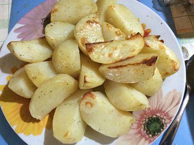 картофель запечен
